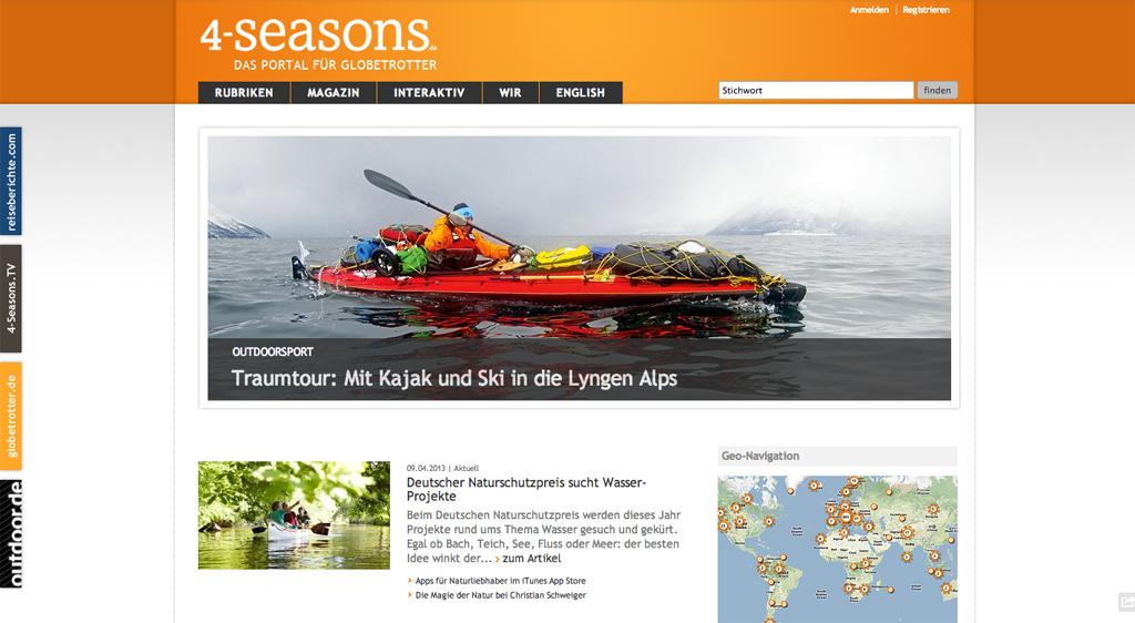 4-season.de Homepage