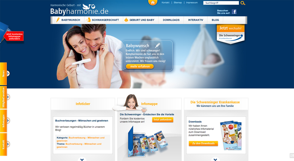 Babyharmonie.de Website