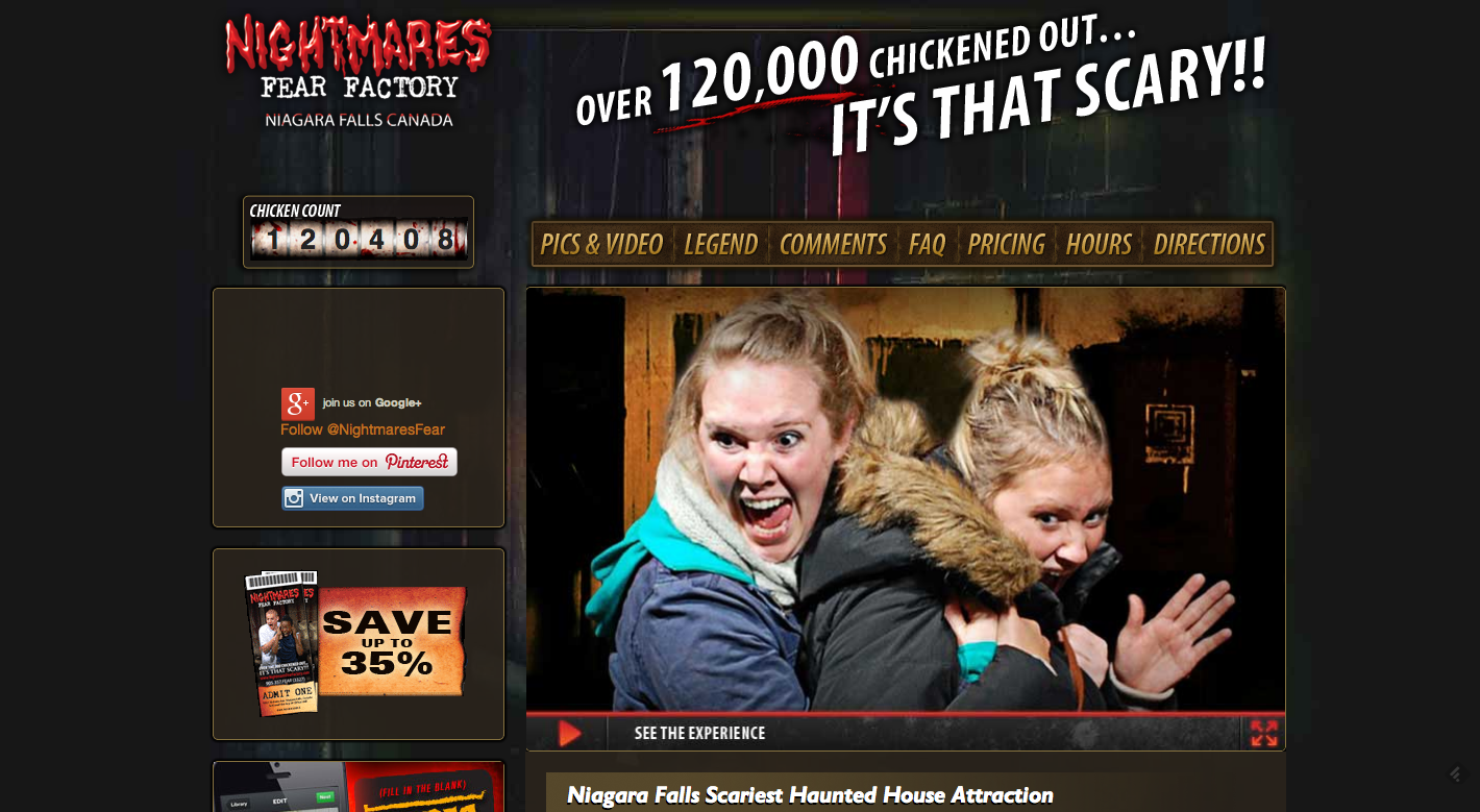 Nightmares Fear Factory Homepage