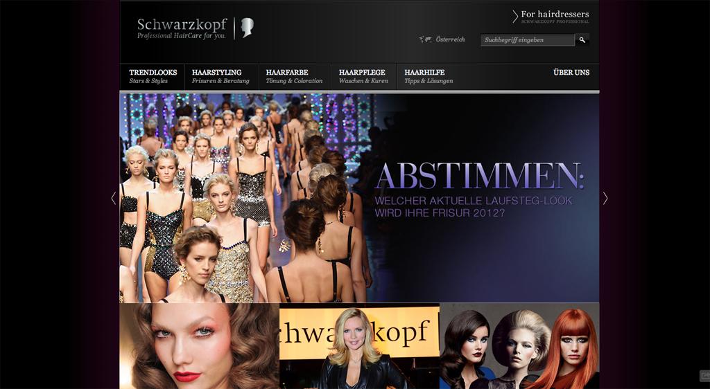 Schwarzkopf Homepage