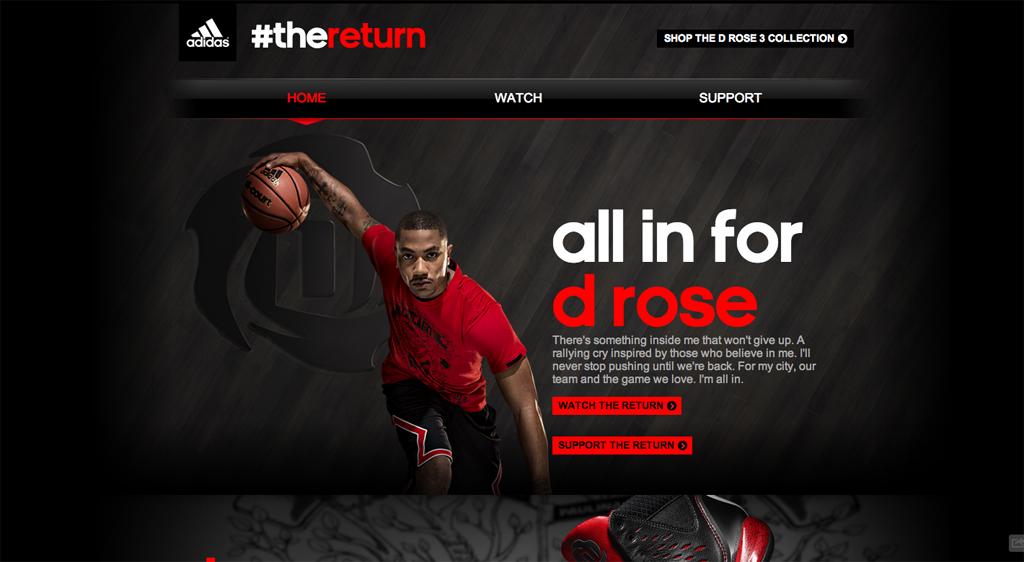 adidas #thereturn Homepage