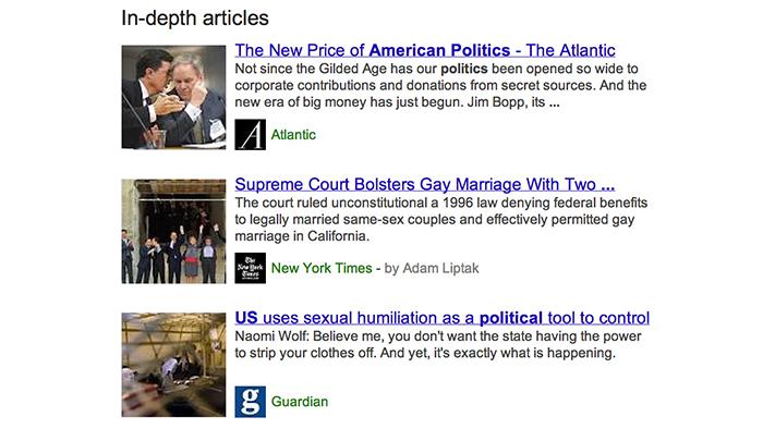 In-depth articles American Politics