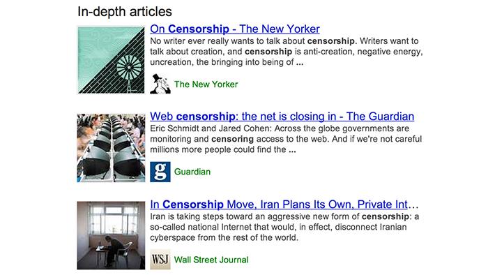 In-depth articles Screenshot